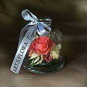 Флорариумы ручной работы. Ярмарка Мастеров - ручная работа стабилизированная роза в колбе в подарочной коробочке. Handmade.