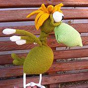 """Куклы и игрушки ручной работы. Ярмарка Мастеров - ручная работа Мастер - класс по вязанию  """"Птенчик Киви"""" (птица не умеющая летать). Handmade."""