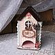 """Кухня ручной работы. Ярмарка Мастеров - ручная работа. Купить чайный домик """"Парижское кафе"""". Handmade. Бледно-розовый, дерево"""