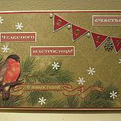 """Открытки ручной работы. Ярмарка Мастеров - ручная работа Открытки """"Новогодняя сказка"""". Handmade."""