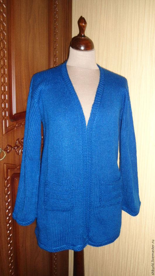 Кофты и свитера ручной работы. Ярмарка Мастеров - ручная работа. Купить Кардиган женский. Handmade. Тёмно-синий, кардиган