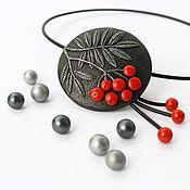 Украшения handmade. Livemaster - original item Necklace-choker polymer clay Rowan. Handmade.