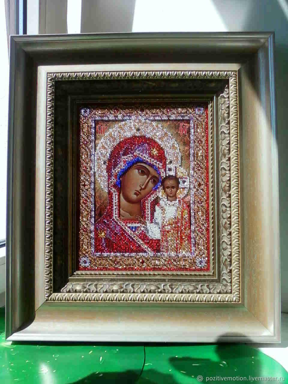 Икона казанской божьей матери вышивка бисером фото 91