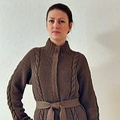 Одежда handmade. Livemaster - original item Cardigan, cardigan Chocolate. Handmade.