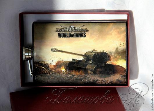 """Подарки для мужчин, ручной работы. Ярмарка Мастеров - ручная работа. Купить Фляжка """"""""World of Tanks"""". Handmade. Разноцветный"""