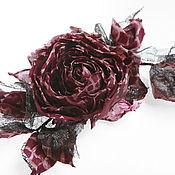 Украшения ручной работы. Ярмарка Мастеров - ручная работа Бордовая роза. Handmade.