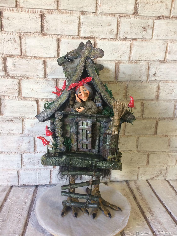Баба Яга в избушке, Народная кукла, Запорожье,  Фото №1