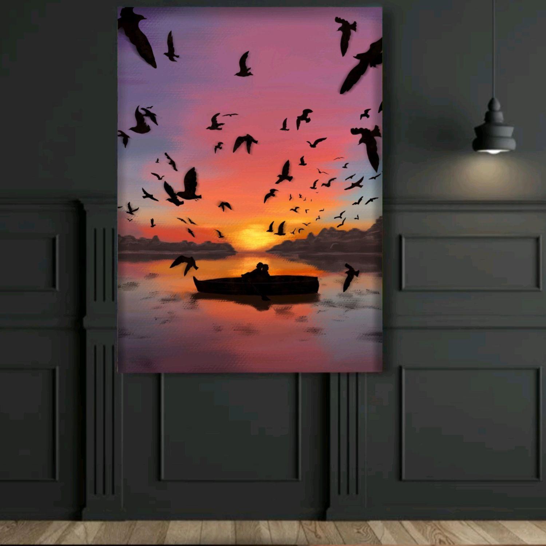 Напечатанный Постер картина маслом в интерьер для кухни спальни 40×60, Иллюстрации, Санкт-Петербург,  Фото №1