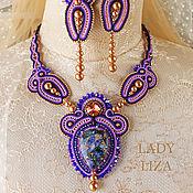 Украшения handmade. Livemaster - original item Soutache jewelry set Starry sky (necklace and earrings). Handmade.