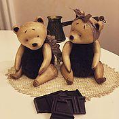Куклы и игрушки ручной работы. Ярмарка Мастеров - ручная работа Шоколадные медведи. Handmade.
