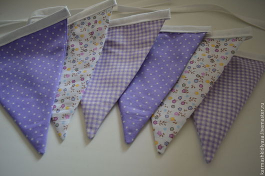 Аксессуары ручной работы для детей. Текстильная гирлянда из флажков.