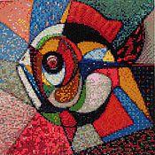 """Картины и панно ручной работы. Ярмарка Мастеров - ручная работа Алмазная живопись, вышивка стразами """"Рыба"""". Handmade."""
