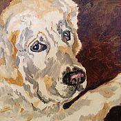 """Картины и панно ручной работы. Ярмарка Мастеров - ручная работа """"Самая лучшая собака на свете...моя!"""". Handmade."""