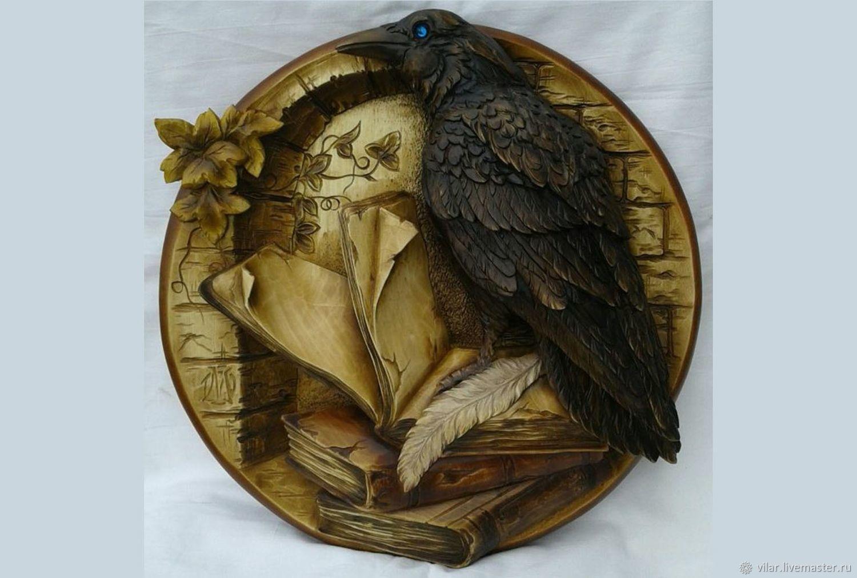"Медальон "" Ворон на книге"", Декор для декупажа и росписи, Балашиха,  Фото №1"