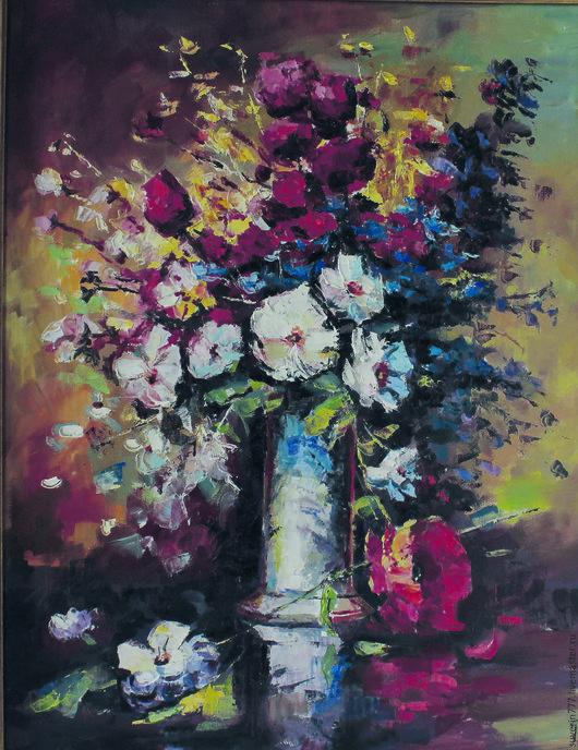 Картины цветов ручной работы. Ярмарка Мастеров - ручная работа. Купить Цветы. Handmade. Подарок для женщины, букет в подарок