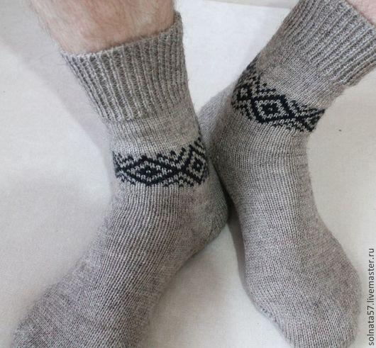 """Носки, Чулки ручной работы. Ярмарка Мастеров - ручная работа. Купить Носки """"Натура"""". Handmade. Серый, носки из шерсти, шерсть"""