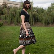 Одежда ручной работы. Ярмарка Мастеров - ручная работа Трикотажная юбка с принтом. Handmade.