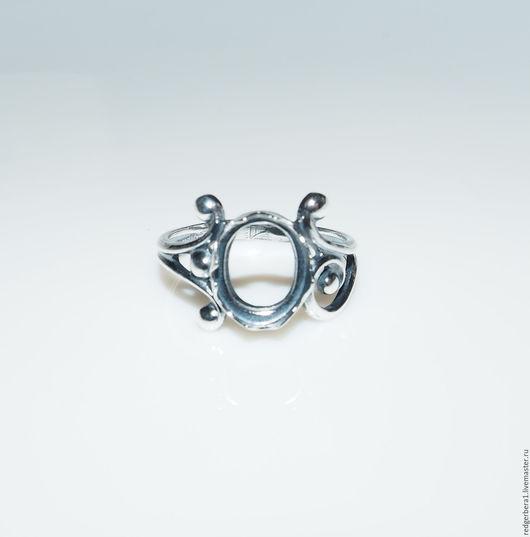 """Для украшений ручной работы. Ярмарка Мастеров - ручная работа. Купить Основа для кольца """"Ярослава""""(10Х8) - серебрение 925 пробы. Handmade."""
