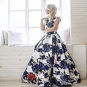 Одежда ручной работы. Ярмарка Мастеров - ручная работа платье с цветочным принтом. Handmade.