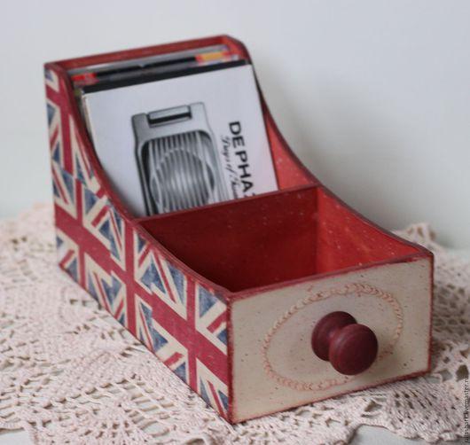 Деревянный короб ` Old England`. Мастерская добрых вещей `Солнце за пазухой`. Юлия Shark.  Английский флаг.