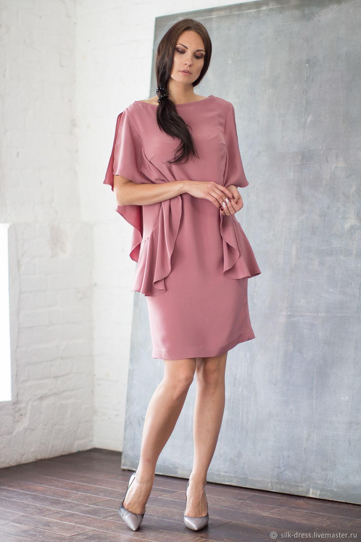 6c18bc23291 Dresses handmade. Livemaster - handmade. Buy silk dress. Silk dress in   Dusty ...