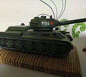 Сувениры и подарки ручной работы. Ярмарка Мастеров - ручная работа Модель танка из дерева т-34. Handmade.