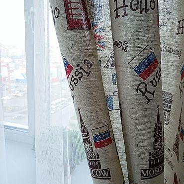 Текстиль ручной работы. Ярмарка Мастеров - ручная работа Шторы с рисунком. Handmade.