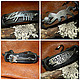 Bracelets leather.Leather,silver,gold,wax cord,hematite, Cord bracelet, Ekaterinburg,  Фото №1