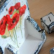 """Канцелярские товары ручной работы. Ярмарка Мастеров - ручная работа Вечный календарь """"Маковое поле"""" настольный. Handmade."""