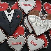 Сувениры и подарки ручной работы. Ярмарка Мастеров - ручная работа Рассадочные карточки на свадьбу пряничные. Handmade.
