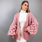 Одежда handmade. Livemaster - original item Pink cardigan for girl in the shade of powder. Handmade.