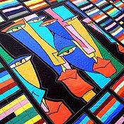 Для дома и интерьера ручной работы. Ярмарка Мастеров - ручная работа креатив.  лоскутное покрывало  АЛЬТЕР ЭГО - 2.. Handmade.