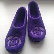 """Обувь ручной работы. Ярмарка Мастеров - ручная работа Тапочки валяные """"Роза"""". Handmade."""