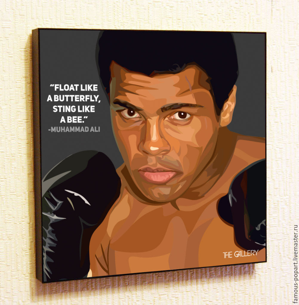 Painting Pop Art Muhammad Ali, Pictures, Moscow,  Фото №1