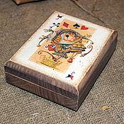 """Для дома и интерьера ручной работы. Ярмарка Мастеров - ручная работа Шкатулка для карт """"В игре"""". Handmade."""