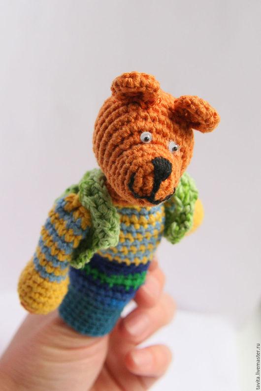 Сказочные персонажи ручной работы. Ярмарка Мастеров - ручная работа. Купить Медвежонок.. Handmade. Коричневый, медведь, пальчиковые игрушки