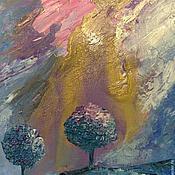 """Картины и панно ручной работы. Ярмарка Мастеров - ручная работа Картина """"Два дерева"""". Handmade."""