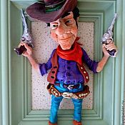 Куклы и игрушки ручной работы. Ярмарка Мастеров - ручная работа Кукла из полимерной глины Ковбой. Handmade.