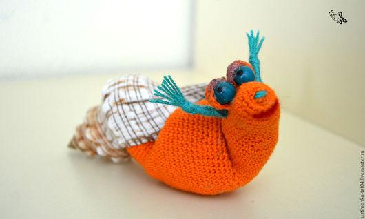 Игрушки животные, ручной работы. Ярмарка Мастеров - ручная работа. Купить Вязаная улиточка Соня. Handmade. Оранжевый