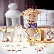 Куклы и игрушки handmade. Livemaster - original item Knitted reindeer toy for a newborn photo shoot. Handmade.