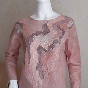 Одежда handmade. Livemaster - original item Sweatshirt all-wool Powder. Handmade.