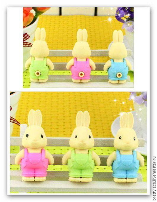 Другие виды рукоделия ручной работы. Ярмарка Мастеров - ручная работа. Купить Большой ластик Заяц-Кролик. Handmade. Ластик