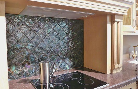 Кухня ручной работы. Ярмарка Мастеров - ручная работа. Купить Фартук для кухни из глазурованной плитки ручной работы. Handmade. Разноцветный
