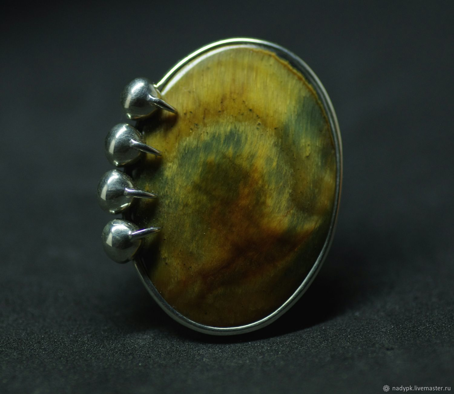 Ring with tiger eye 'Africa', silver, Rings, Moscow,  Фото №1