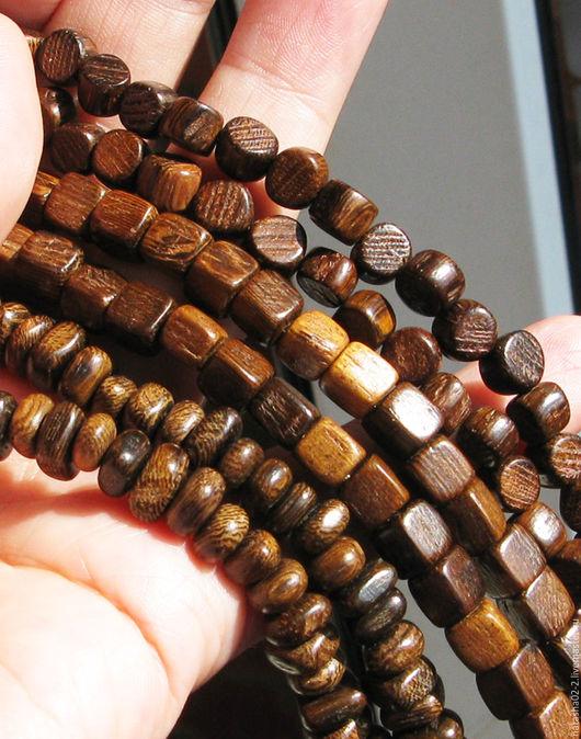 Для украшений ручной работы. Ярмарка Мастеров - ручная работа. Купить РОБЛЕС деревянные бусины - пенек, счеты, кубик. Handmade.