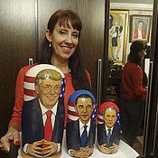 Подарки к праздникам ручной работы. Ярмарка Мастеров - ручная работа Матрёшка - подарок Дональду Трампу. Handmade.