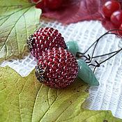 """Украшения ручной работы. Ярмарка Мастеров - ручная работа серьги """"осенняя ягода"""". Handmade."""