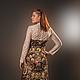 """Платья ручной работы. Платье """"Дива"""". Мария. Интернет-магазин Ярмарка Мастеров. Платье, цветочный, павловопосадский платок, шерсть"""