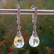 Свадебный салон handmade. Livemaster - original item Earrings with Swarovski crystals. Handmade.