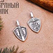 Украшения handmade. Livemaster - original item George the victorious pendant on the Shield. Cubic Zirconia. Silver 925 art. One million eleven thou. Handmade.